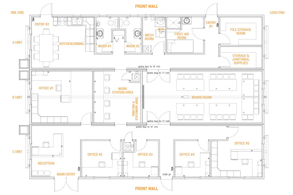 3 Box Mobile Office Complex